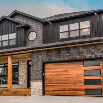 Contemporary Planks Garage Door